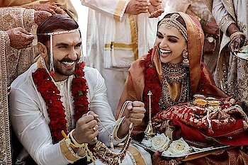 Official pictures! Deepika Padukone and Ranveer Singh wedding pictures are dreamy for real.<3  Hearty congratulations to Mr. & Mrs. Singh Bhavnani.  Rate this couple on a scale of 1 to 10 in the comment section below.  #DeepVeerKiShaadi #DeepVeerWedding #BollywoodMarriage #CoupleGoals #MarriageGoals #ItalyWedding