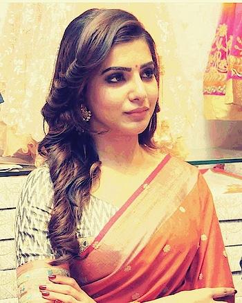 #samantha #samantharuthprabhu #samanthaakkineni #sareelook #traditional #cuteness-overloaded