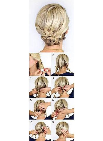 #shorts #shorthair #braid #braidedlook #updo #blondehair #ropo-love #stepbystephairstyle #elegantstyle #cute