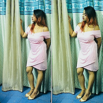 #tb #dec #pinkdress #koovs #summerfeels #heels #nudecolour #happymood #poser #triedthough