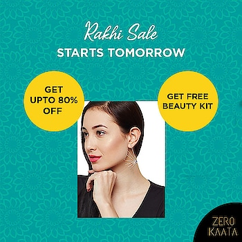 Shop from our #rakhisale and get upto 80% off on 3000+ #handmadejewellery designs  Also, get a free #beautykit with every purchase of Rs 499 and above  The sale starts on 1st August  #zerokaata #tribalbyzerokaata #rakhigifts #rakhigiftsforsister #giftsforrakhi #rakshabandhanspecial #rakshabandhan #rakhi2019 #rakhigiftforsister #rakhigiftstosister #rakhigiftsforsisterunder500 #rakshabandhangifts #festivaljewelry #festivaljewellery #festivecollection #festiveseason #festivalfashion #festivevibes #giftsforwomen #giftsforgirls #giftsforyou