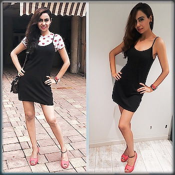 Pinafore Dresses are the latest trend in fashion👗 How I'm using it for Both Day Look and Night Look . Only remove the crop top for other way look rest accessories r same ✌❤ DO COMMENT WHICH LOOK U LIKE BETTER?? OUTFIT FROM @lifestylestores Brand Ginger  Watch from @tommyhilfiger  Pumps from @stelatoesshoesindia  #pinaforedress #latesttrends #fashiontrendsph #blackdresses #littleblackdresses #polkadottops #tommyhilfiger #tommyhilfigerwatches #redpatentpumps #picofthedays #fashionmodelling #stylistfashion #fashiontipsforwomen #tipsfashion #divastylist #actorstyle #stylemodel #blogfashion #indianstyleblogger #instastyleblog #instabloggingmommy