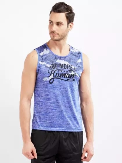 Blue Printed Active Wear T-shirt -- #men-fashion, #men-branded-shopping, #men-looks, #summer-style, #fashion, #Menclothing, #mens-wear, #mens-ethnic, #mens, #stylishlook, #stylewear, #men's style, #men's shirt , #mens clothing, #mens tshirt, #men#style, #casaul men outfit