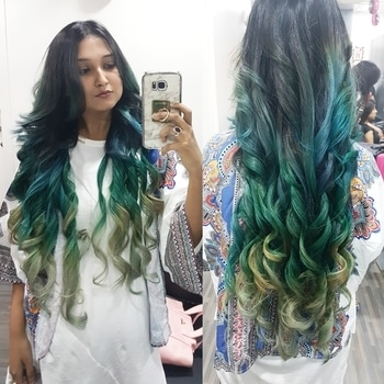 #Hairtales 💚✌ #Amajesticmind . #gogreen #ash #love #styleblogger #unique #stylist #trendsetter #stylist #blogger #fashionblogger #hairgoals #hairstyles #colorhair #shadesofgreen #bloggerimage #hairgoals #longhairlove #stylist #trends #longhair #greenhair #stylefile #trendylook #obsession #haircolor #roposo #soroposo #roposoblogger #influencer #influencermarketing