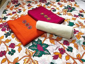 Fabrics details salub cotton two top bottom cotton chanderi printed dupatta  *price 880+$🐋🐋*  Direct Message us or whatsapp on 9867764381   Follow us 👉🏻on FB:  *https://www.facebook.com/Stylista-Fashionss-2137660539847810/*  #stylistafashionss #style #fashion #trend #readysuit #dressmaterial #ethnic #western #fashionjewellery  #handbags #kurti #botttomwear #onestop #shopping #saree #readymadeblouse #lookstylish #bethefashion #shopstylistafashionss #onlineshopping #bestquality #bestprice #bestbuy #swag