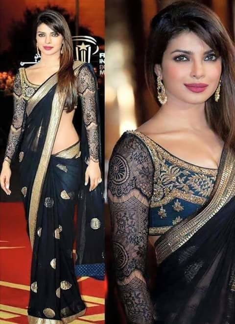#blacksaree #priyankachopra #supermodel