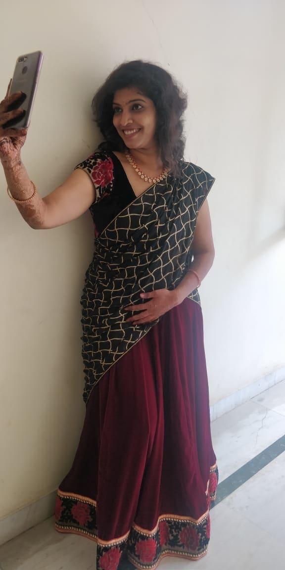 half saree love
