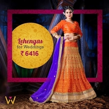 Lure your look for a wedding with this ideal Designer Lehenga!  Buy Now from WedLista.com - India's Premier 'Fashion for Weddings' Online Destination!  http://bit.ly/WL_Lehenga  #WedLista #FashionForWeddings #onlineshoppingindia #wedding-lehnga #weddingwear #weddingcollection #ropo-love
