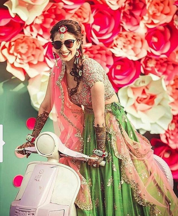 Stylin' an entry the desi bride way! #swagybrides #brides #weddingphotography #weddingmoments #weddinglove #weddinglove #weddingdiaries #weddings #celebrations Captured by Hitched And Clicked