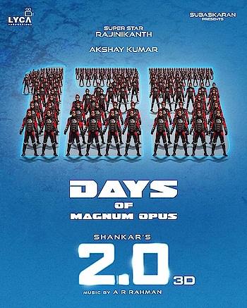 1️⃣2️⃣5️⃣ Days of Magnum Opus ✨🎇🎆 2.0 😎 #2Point0 Our pride! 👑  #superstar-rajinikanth  #akshaykumar   #shankar  #A.R. Rahman #amyjackson  Nirav Shah Muthuraj Thangavel Anthony Gonsalvez Resul Pookutty Srinivas Mohan Madhan Karky  #2Point0EpicBlockbuster 🔥 #125DaysOf2Point0 🤖
