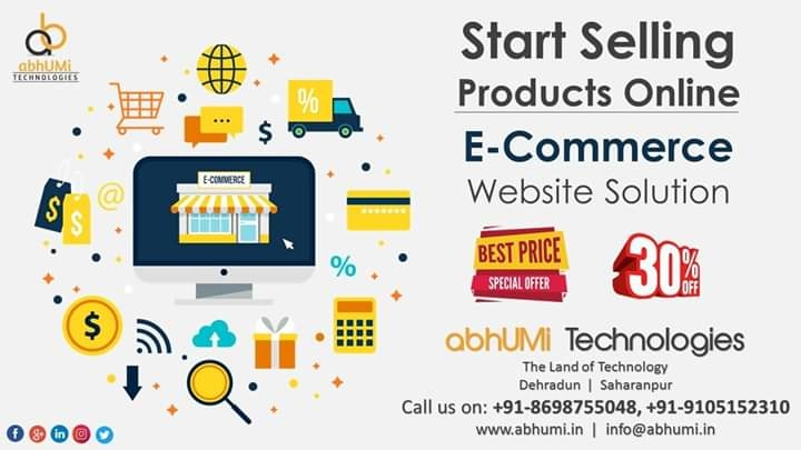 Grab The offer Now!! 30%Off  List your business products online Now!!  Get your business E-commerce website in pocket friendly package.  Demo Available!!  Call Now: +91-8698755048, 9105152310 Email now: info@abhumi.in  #e_commerce #website #abhumi #technologies #bestService.