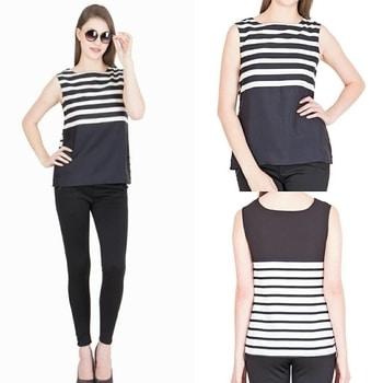 Black & White sleeveless top @simbhacreations ##lookoftheday #summercollection #summer-fashion ##attractive❤ #stylish_top #elegant #easytocarry #freeshippinginindia #simbhacreations  #tops