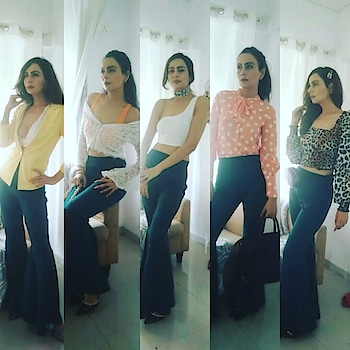 Hey Guys , Hope You Watched my Yesterday Video on Fashion Therapy of 5 ways to wear Flaired Pants 😊✌ Here are all Five Looks in One Frame ❤ Do Comment Which is Your Favourite look??? N let me know what nxt fashion therapy look you want to See??✌❤ #fashiontherapy #outfitshot #outfitgrid #outfitfashion #outfitidea #outfitonpoint #outfitgram #outfitstylingvideo #outfitfromabove