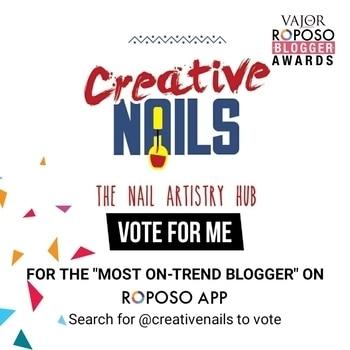 Beauties if you like my trendy art plz vote for me!! #nailart #nailartindia #naillover #nailartpromote #roposoblogger