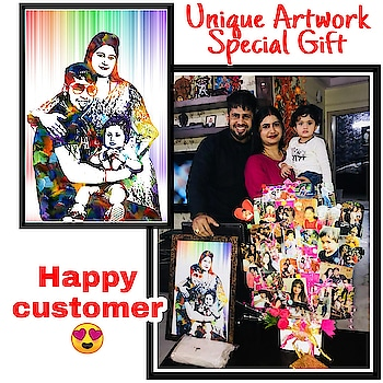 Order Now Happy Customer❣️ Trending unique Gift🎁❣️ Order Done😍😘 Digital Splash Artwork💞 ️Play with pictures😻😻 ❤️Get your own Photo Art ❤️Just send us your pictures for get it done ❤️Need DSLR and High Qulity Pics❤️Both softcopy and hardcopy is available Dm for Order @photo_art_store @gifts_shopping_time  @gift_online_store  @personalized_magazine Special🎁🎁🎁🎁🎁😘 😍SPECIAL PERSON😍 Keep Ordering😍😍 Birthday Couple Friendship Family Anniversary 😍😍 😍 DM for Order  #surprises #specialgift #happybirthday #birthdaygift #birthdaygifts #customisedgifts #uniquegifts #giftsforher #giftsforhim #giftsforcouple #anniversarygifts #anniversarygift #personalisedcards #greetingcards #handmadegift #handmadegifts #handmadecard #womanentrepreur #femaleentrepreneur #giftideas  #photo_art_store #gifts_shopping_time #gift_online_store