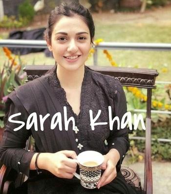 #SarahKhan