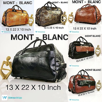 **LOUIS VUTTION** **GUCCI** **BURBERRY** *MONT-BLANC**  Trolley duffle bag  💞 2 Wheel  💞 adjustable rod to pull  💞Spacious duffle  💞size : 13 X 22 X 10 Inch   For ₹ 2000 + shipping   ** LIMITED STOCK ** For booking contact contact 8790064509