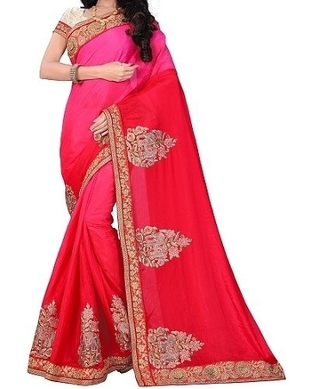 Buy this lovely shaded pink saree with amazing embroidery from arnav sarees for your colleague's wedding.  COD Available Free Shipping  Easy Returns  Shop Now:Product Code: AS317- PINK SHADED  Price: Rs. 3,150.00  #WedLista #FashionForWeddings