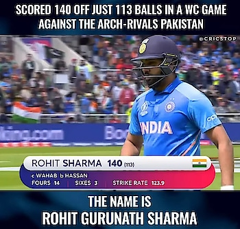 Rohit Sharma arrived , Conquered it all, and then went all hails from the crowd! . Follow cricstop for more Cricket Updates! . #mitchellstarc #imrantahir #rishabhpant #aaronfinch #dimuthkarunaratne #indvspak #patcummins #joeroot #shikhardhawan #rohitsharma #kanewilliamson #davidwarner #jofraarcher #benstokes #kagisorabada #quintondekock #msdhoni #jaspritbumrah #stevesmith #viratkohli #hardikpandya #babarazam #mohammadamir #cricketaustralia #worldcup2019