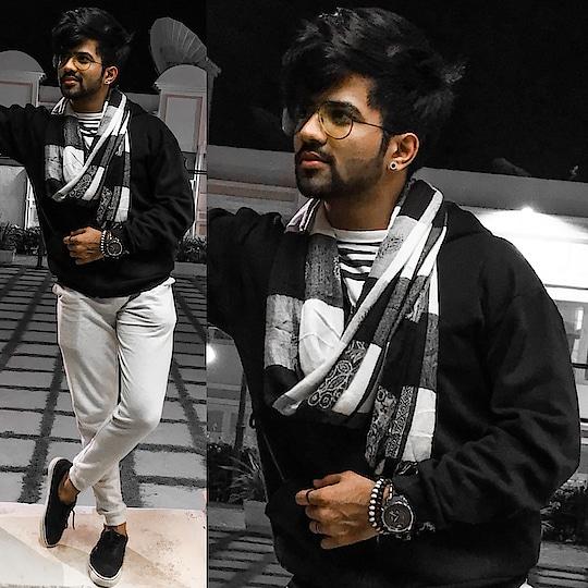 It's cold, let's cuddle.   #fashionlover #fashionpost #followforfollow #blacklover #fashionshow #like4follow #indianbloggers #outfit #fashionphotography #styleblog #instagood #stylish #moustache #beardedmen #like4tags #fashionweek #prilaga #instadaily #igers #followback #fashionblogger