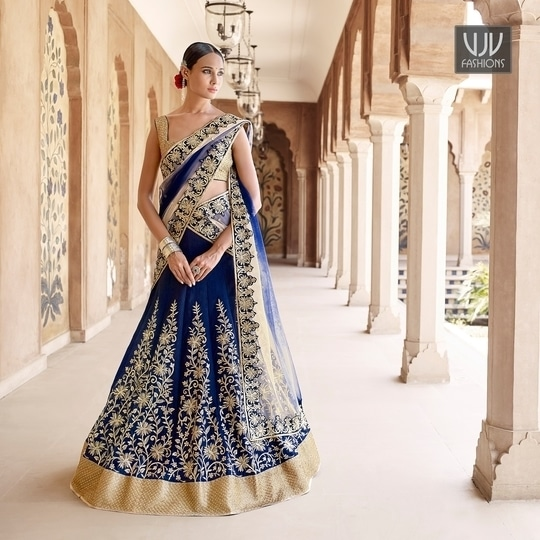 Buy Now @ https://goo.gl/2Lvh8F  Amazing Net Embroidered Work A Line Designer Lehenga Choli  Fabric- Net  Product No 👉 VJV-NAKK5048  @ www.vjvfashions.com #lehengas