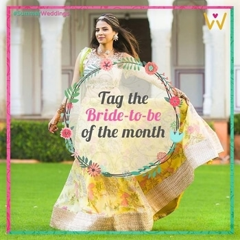 We hear weddings bells !  Know someone who is about to tie the knot?   Tag the bride to be and browse through WedLista's #SummerWeddings collection for her wedding!   #WedLista #FashionforWeddings