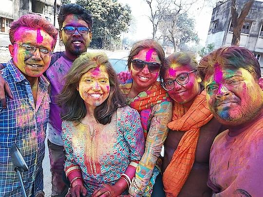Holi celebrations..   #holi #holitime #dol #playingwithcolors #festivalofcolors #love #family #happiness #friends #festival #indianfestival #roposo #roposostyle #fashion #roposoholi