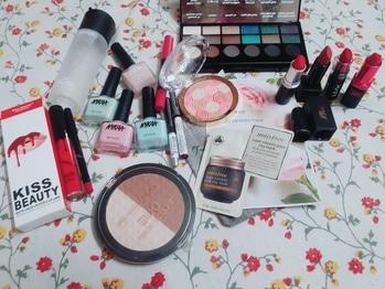 New makeup purchases #from Nykaa #amazon#mac#nyx#insfree#milani#maybelline #nickak #kiss beauty#Nykaa nail enamail#loreal # face shop # revolution#totallyinlove  #Makeup junkie😂