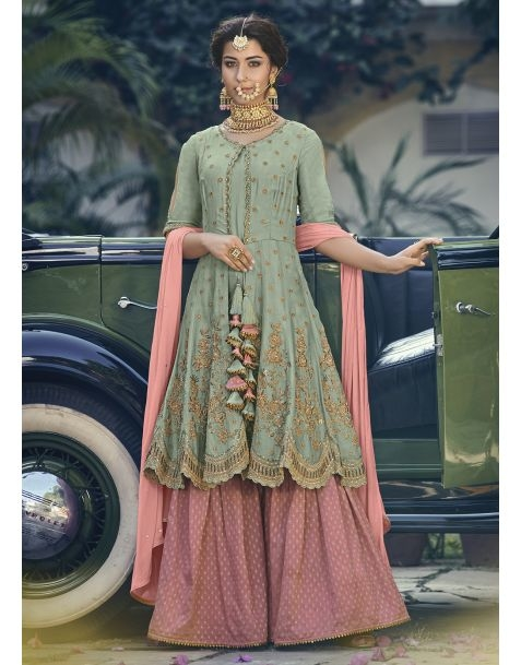 Be the ray of sunshine with this gorgeous suit available @ https://www.manndola.com/pretty-pink-and-green-partywear-sharara-style-suit  Grab Up To 65% OFF and get extra 10% OFF on all orders above $199 using code EXTRA10 & get extra 15% OFF on all orders above $299 using code FREESHIP !!  #newarrivals #newlaunch #partywear #ethnicwear #sharara #shararastylesuits  #style #readymade #net #embroidery  #photography #instamood #instaupload #fashion #indianfashion #ethnic #usa #india #canada #australia #dubai #uae #mauritius #london #uk #shoponlinestore