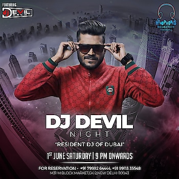 Ready to go out with a bang? Join Headphones Reloaded at GK New Delhi My last party for tonight in Delhi🇮🇳 before going to Dubai 🇦🇪 Celebrations starts this Saturday Weekend .. See u All   #2019 #Indiadelhitour #celebrations #this #weekend #at #HeadphonesReloadedGK #newDelhi #wid #ur #rockstar #djdevildelhi  #InternationalDj  #Dj #Producer #musicproducer #dj #djlife #likefourlikes #musicismylife