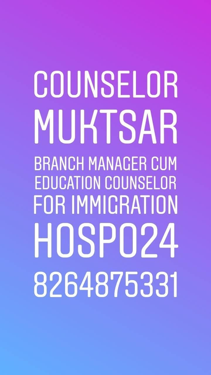 #Branch #manager #Immigration #counselor Required in #muktsar 👉👉👉Apply here :- https://bit.ly/2IiYZkz  #Project :- www.hospo24.com #Hospo24 WhatsApp 8264875331  #Recruiter :- www.kainthconsultancy.com