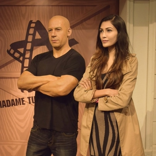 Couldn't resist myself - it's Vin Diesel! 😍 #AashnaMalani #AashnaTravels #LifestyleArchives #RoposoTalentHunt