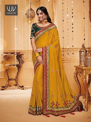 Buy Now @ https://bit.ly/36oG9Bh  Stylish Yellow Color Fancy Fabric Designer Saree   Fabric - Fancy Fabric  Product No 👉 VJV-VANY2307  @ www.vjvfashions.com