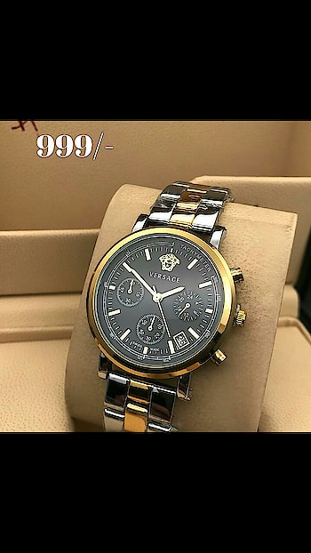 VERSACE watch. 999/- #watch  #watches  #timepiece  #wristwatch  #beautiful  #horology  #watchporn  #watchoftheday  #watchgeek #classy #pretty #trendalert  #royal #winterfashion  #online #classic #style #casual #winterwear #fashion #stylishwear #fashiongram #trend #gym #gymlover #beardeddragon #beard #indianwedding