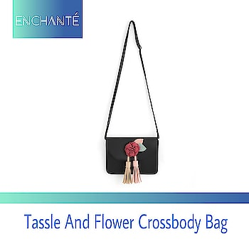Summer is almost here.. Look pretty with our flower and tassle crossbody bag  DM for price  #black #crossbodybag #handbag #flower  #tassles #slingbag #handbags #baglover #beautiful #blackhandbag #accessories #handaccessory #shoulderbag #accesorize #summerishere #giftingideas #girly #enchanté #enchante #theshop