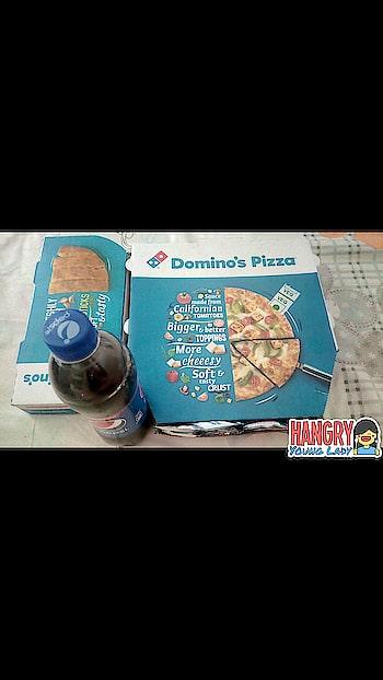 Sunday with Domino's  #dominos #dominospizza #garlicbread #pizza #pizzalover #yummy #yummyinmytummy #yummyfood #hungrytv #hungry #hungryalways #hungryalways #dailypost #followmeonroposo