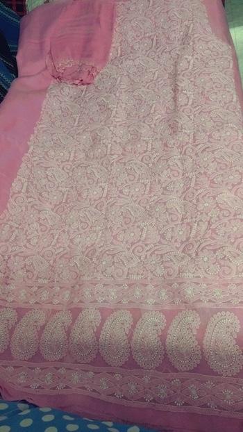#chikankari #chikankariwork #chikanwork #pinkobsession #dressmaterial #lucknowichikan  #chikan