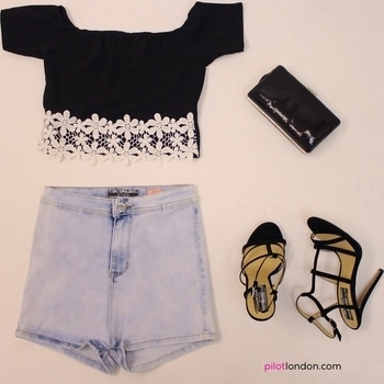 ✖LOTD✖❤ Get this look @ https://www.pilotlondon.com/collections/tops-crop-tops/products/roxanne-crochet-trim-bardot-crop-top-black https://www.pilotlondon.com/collections/shorts/products/cassie-acid-wash-tube-shorts-light-denim https://www.pilotlondon.com/collections/accessories-bags/products/alexis-sequin-clutch-bag-black https://www.pilotlondon.com/collections/footwear-high-heels/products/safiya-strappy-high-heel-sandals-black #lotd #style #fashion #instastyle #fashiongram #top #shorts #shoes #clutch #shopnow #summer #shoponline #PilotLondon