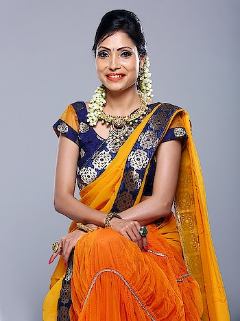 #brand #shoot #traditional #orange #sudhajainatraveller