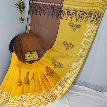 Pure Printed cotton sarees