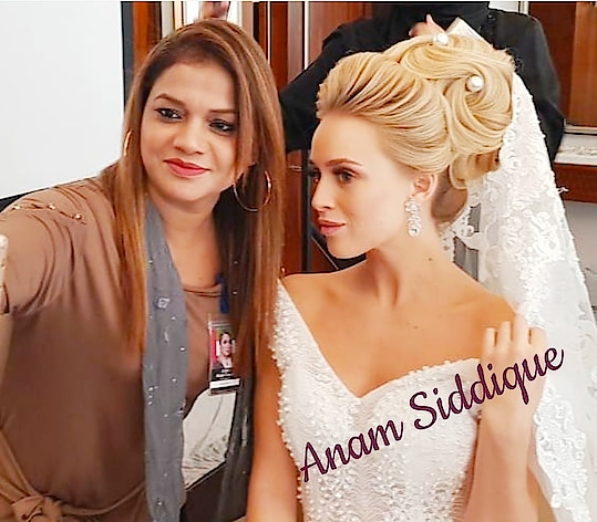 #anamsiddique #hairstylist  attending masterclass in Dubai