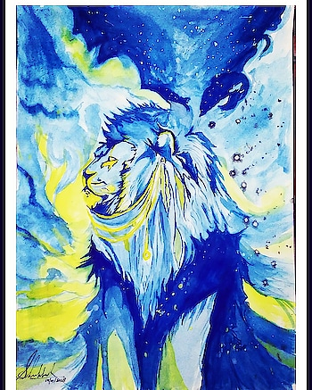 King #art  #artist #abstract #watercolours #painting