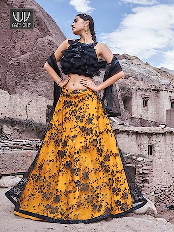 Buy Now @ https://bit.ly/35qjd4h  Wonderful Orange Fancy Fabric Designer Lehenga Choli  Fabric - Fancy Fabric   Product No 👉 VJV-TATH003  @ www.vjvfashions.com