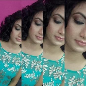 NUDE Party Makeup..happy client☺