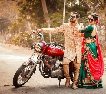 We just can't stop ourselves from drooling over this fab couple!  Shop for such splendid bride & groom outfits from WedLista.com.  Pic Courtesy: @ffstudio  #WedLista #FashionForWeddings