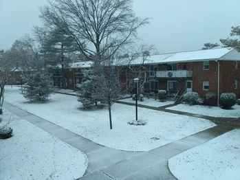 1st snow of the season #snowysaturday #nyc