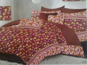 Cotton bedsheet  Key features 1 cotton bedsheets 2 procean prints  ( guaranteed fast colours ) 3 book fold ( ideal for gifting ) 4 economical range rs 800  Contents 1 bedsheet 90*100. ( Queen size ) 2 pillow covers 17*27