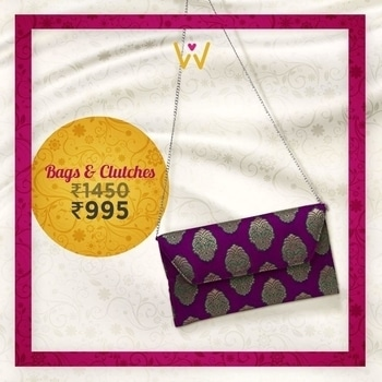 Complete your wedding party look with this purple paisley patterned brocade handbag from WedLista.com!   BUY NOW: http://bit.ly/WL_BagsClutches  #WedLista #FashionForWeddings