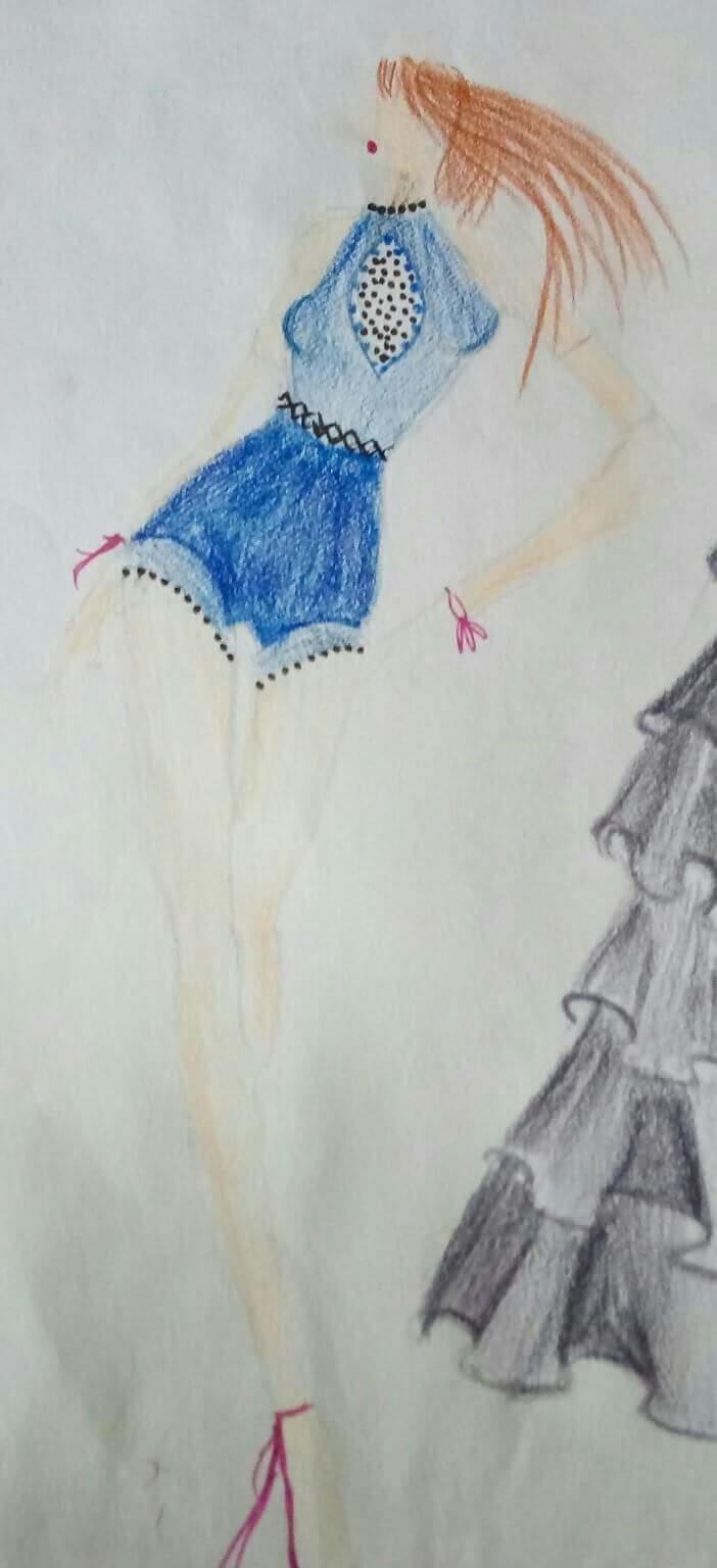 Playsuit Style : women  Fashion illustrator : shal or shaz @rop @roposotalks @shalorshaz