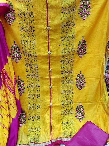 Top:: pure modal silk with multi embroidery   Dupatta shiffon shaburi printed Inner santoon  Bottom cotton *Price*  *825+$🐋🐋*   Direct Message us or whatsapp on 9867764381   Follow us 👉🏻on FB:  *https://www.facebook.com/Stylista-Fashionss-2137660539847810/*  #stylistafashionss #style #fashion #trend #readysuit #dressmaterial #ethnic #western #fashionjewellery  #handbags #kurti #botttomwear #onestop #shopping #saree #readymadeblouse #lookstylish #bethefashion #shopstylistafashionss #onlineshopping #bestquality #bestprice #bestbuy #swag